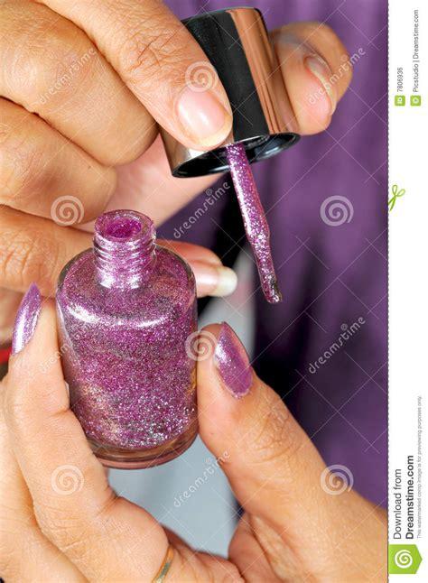 play painting nails free nail paint royalty free stock image image 7806936