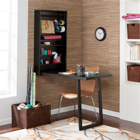Wall Mounted Fold Out Desk by Murphy Black Wall Mount Fold Out Craft Desk With Shelves