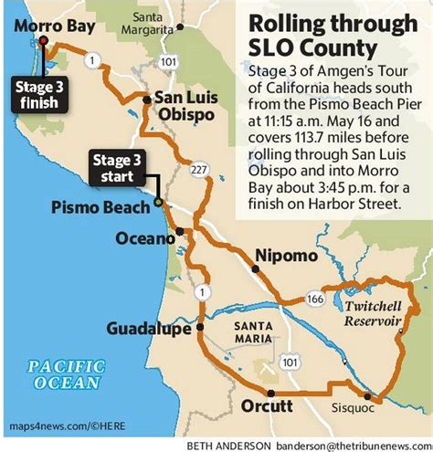 tour of california cyclists will race through pismo slo morro bay the tribune