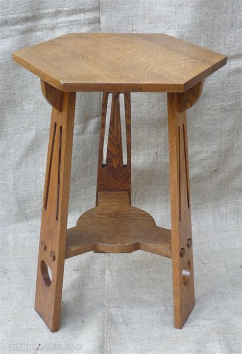 and crafts table small arts and crafts side table in oak antiques atlas