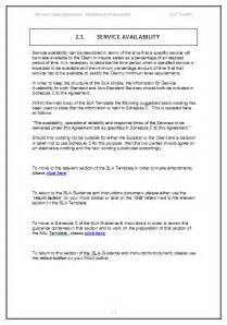 sla document template your service level agreement template sla sle and