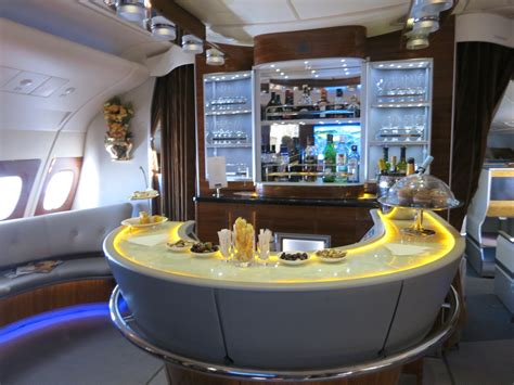 emirates business class cabin emirates introducing new a380 business class bar with cafe