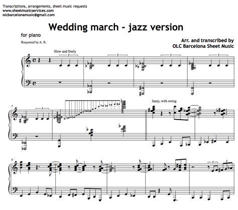 Wedding March by Wedding March Jazz Version Sheet Pdf My