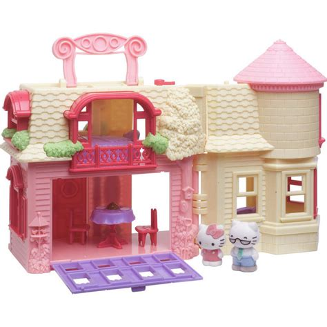 hello happy home play set fold out doll house with 4