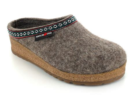 german wool slippers haflinger gz clog classic wool grizzly the german franzl