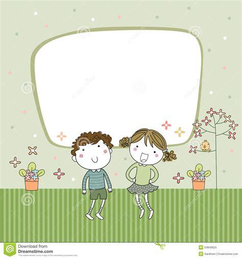 greeting cards templates for children frame stock vector image of children
