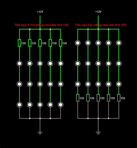 resistor for led in series should resistor be before or after an led series electrical engineering stack exchange