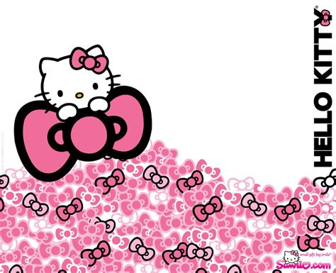 wallpaper hello kitty warna pink hello kitty pink background wallpapersafari