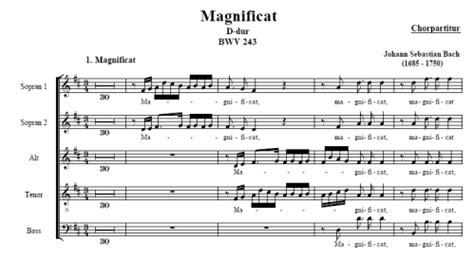 la castellonense ver 243 nica cantos a las puertas del premio magnificat en re mayor partitura coral bwv 243