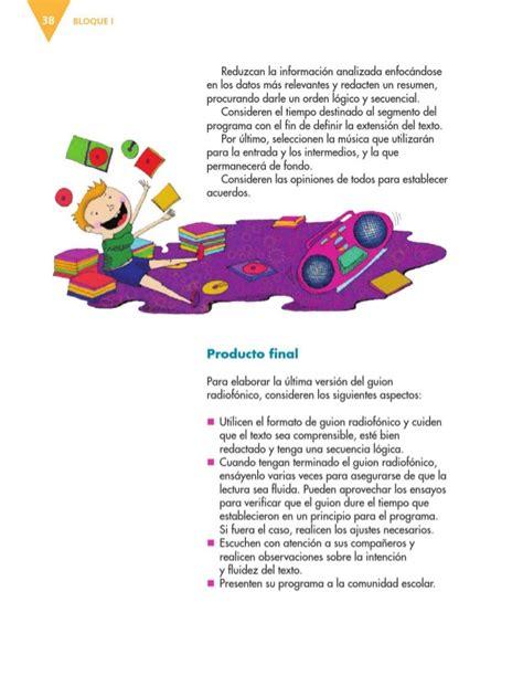 primaria tic 4 grado libro de texto espanol 6to grado primaria 2014