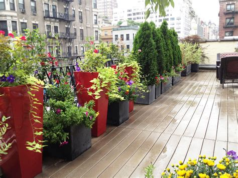 nyc roof garden terrace composite deck container garden