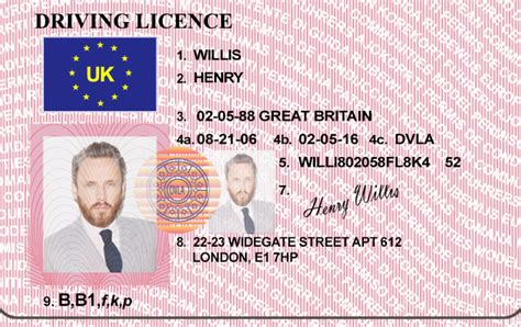 template drivers license hq edited uk driver s license bypass verifition