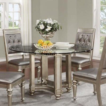 coaster glass dining table coaster danette dining table with glass top in