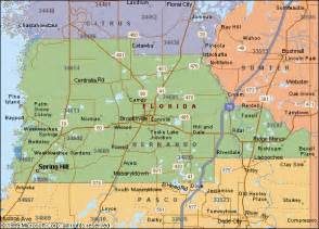 hill florida zip code map our territory central florida chapter neca