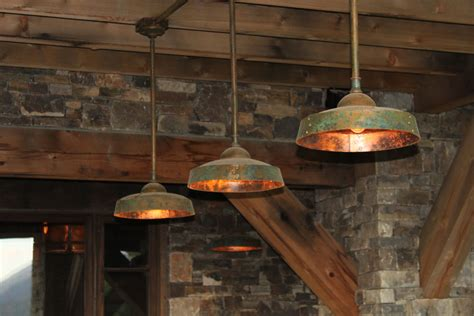 Kitchen Island Lighting Fixtures by Ironglass Lighting Barn Light Pendant