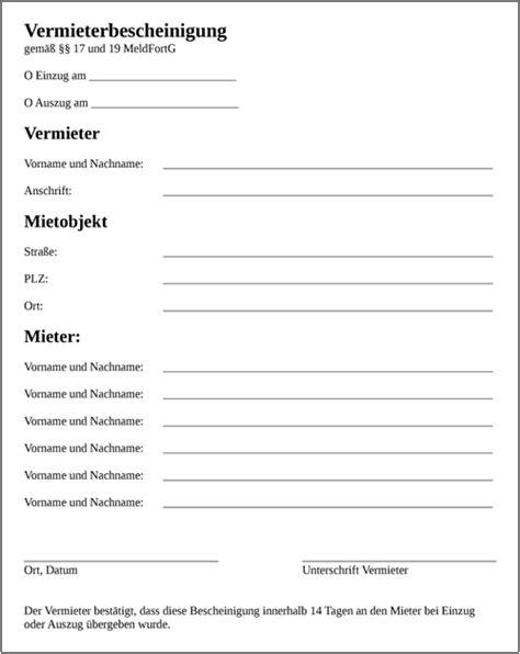 Vorlage Word Formular Vermieterbescheinigung Vorlage Muster Als Word Oder Pdf