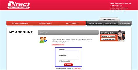 Direct General Auto Insurance Login   Make a Payment