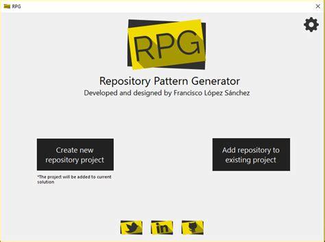 repository pattern methods repository pattern generator