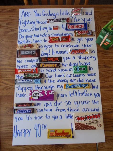 Birthday Card Made Out Bars 25 Best Ideas About Candy Bar Poems On Pinterest Candy