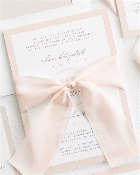 wedding ribbon modern circle logo ribbon wedding invitations ribbon