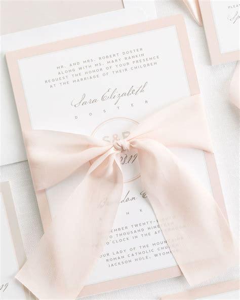 Modern Circle Logo Ribbon Wedding Invitations   Ribbon Wedding Invitations by Shine