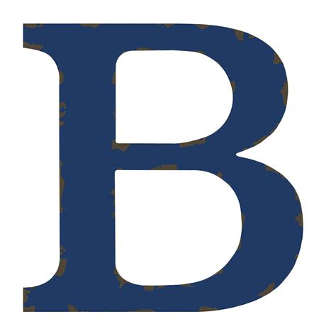 the b distressed blue letter b 12 in at home at home