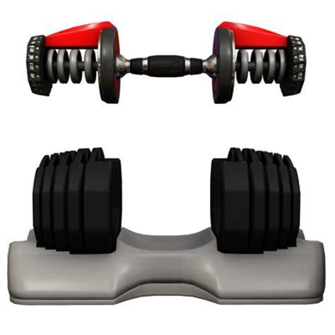 home dumbbell set bowflex 3d model