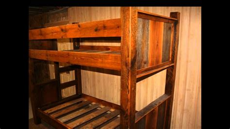 rustic bunk beds youtube