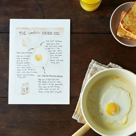 printable egg recipes food52 s how to make the perfect fried egg recipe print on