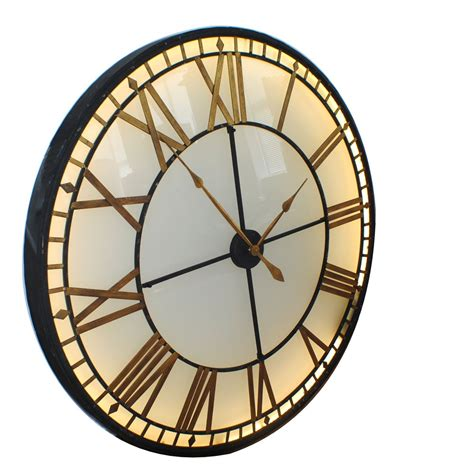 extra large wall clocks extra large vintage cream wood wall clock