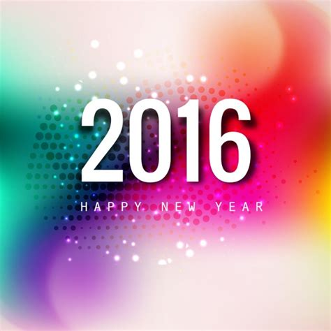 new year card for 2016 shining new year 2016 card vector free