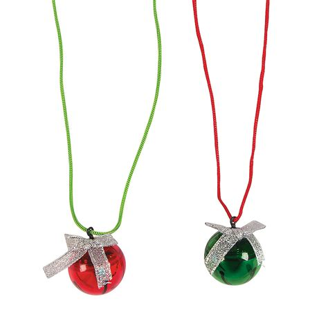 light up jingle bell necklaces