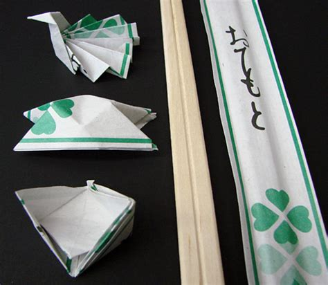 Origami Chopstick Holder - chopsticks origami rests5 jpg