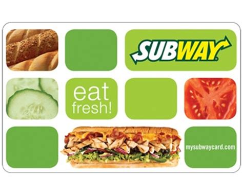 Online Subway Gift Card - 2 subway subs and giveaway