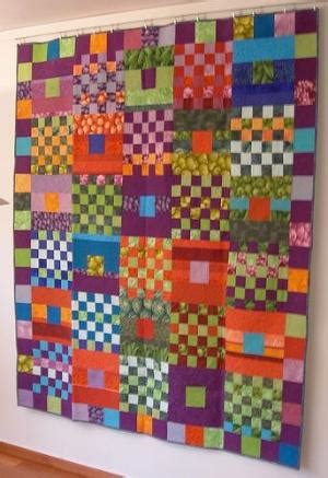 Glorious Patchwork - quot cascade quot by springleaf studios the quilt features