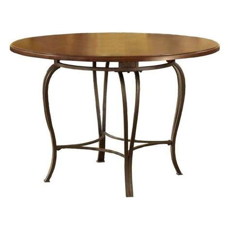 Dining Table Finishes Hillsdale Montello Casual Dining Table In Steel Finish Compare Prices On Furniture