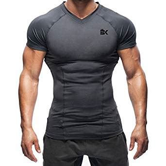 Original Compression Shirt Sleeve Vansydical Green broki mens fit t shirts running compression tops baselayer workout fitted