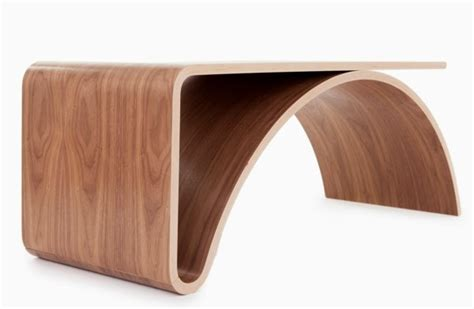 Cool Side Tables by Curved Modern Wood Coffee Table Design For Minimalist