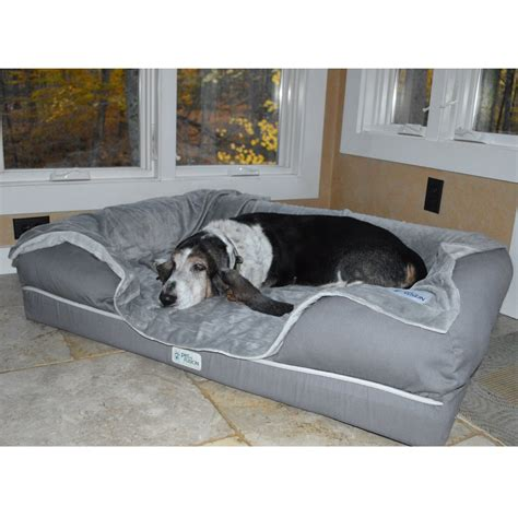 dog bed attached to bed we tested this deluxe memory foam pet bed and our dogs got