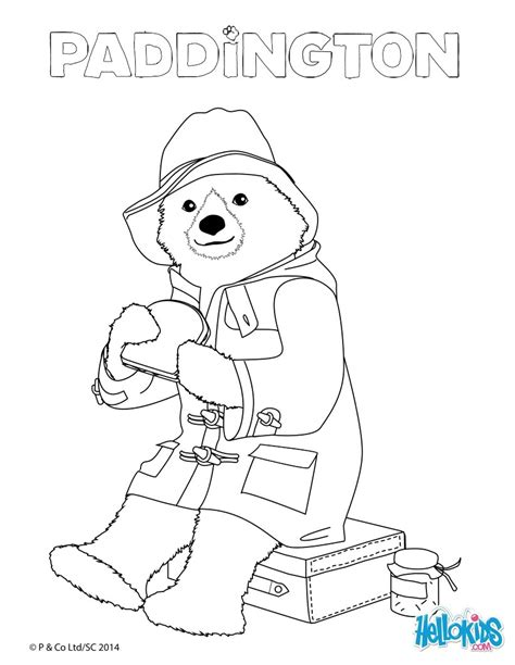 Paddington Eats A Sandwich Coloring Pages Hellokids Com Paddington Coloring Pages