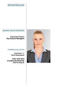 Bewerbung Deckblatt Vorlagen Mit Bild Deckblatt Bewerbung Tipps Und Gratis Vorlagen Http
