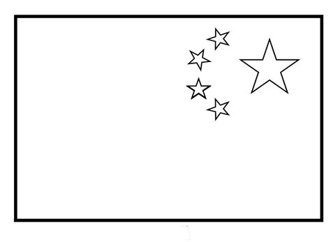 flag to colour template china flag coloring page coloring pages
