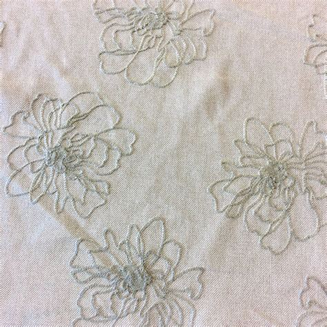embroidered sheer drapery fabric nl221 floral embroidered semi sheer light weight drapery