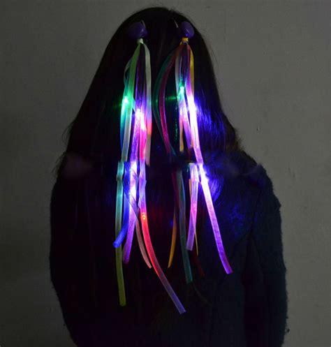 Light Up Swords 35cmflashing Led Braid Novelty Hair Extension Light Up