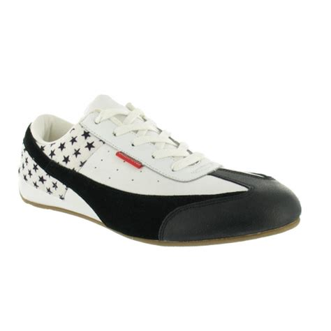 chilli shoes chilli pepper leather casual trainers black