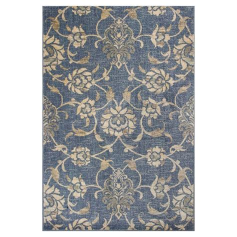 7 ft rug kas rugs willowdale denim 7 ft 7 in x 10 ft 10 in area rug zar750877x1010 the home depot