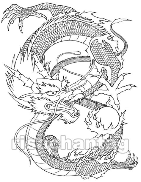 chinese dragon tattoo by risachantag on deviantart