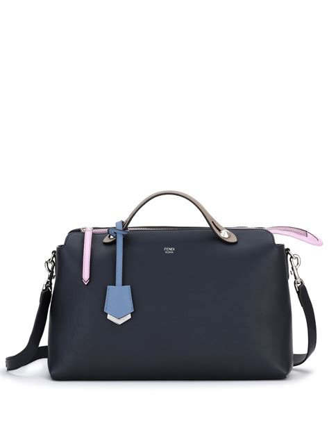 Tas Fendi By The Way Stud Multicolor Semprem 3231 A273 fendi by the way large multicolor satchel in blue lyst