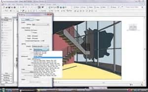 Free Home Design Rendering Software bim revit architecture 2009 render dialog box