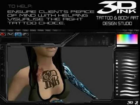 tattoo 3d program 3d ink 3d tattoo body art design software